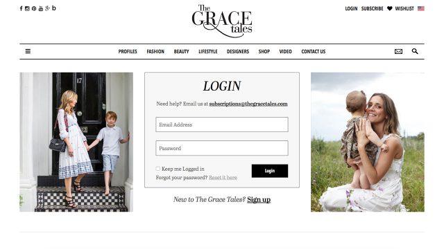 Gracetales Login